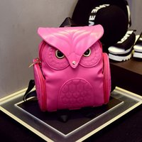 Wholesale New Arrival Girl s Pu Leather Owl Cartoon Backpack Fashion Cute Owl Backpack Women Cartoon School Bags