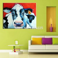 Cheap wall decoration Canvas Oil Painting interior decoration animal cattle abstract home decorate home oil painting patterns