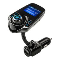 Wholesale 2016 New Bluetooth Handsfree FM Transmitter Car Kit MP3 Music Player Radio Adapter with Remote Control For iPhone for Samsung