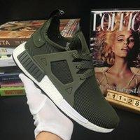 al por mayor los hombres zapatos tenis verdes-Originales NMD XR1 Primeknit Verde Aceituna Hombres y Mujeres Zapatillas Deportes Running Kanye West Zapatos Unisex 36-44