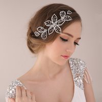 adorn crystal glass - New The bride adorn article manual headdress Wedding dress accessories Diamond headdress flower flower hair band