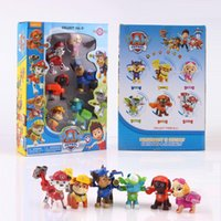 Wholesale Paw And Patrol Figures Toys With Game On Its Back Figures Doll Action Anime Dog Education Toys
