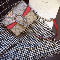 bags designs - Classic chain new hot bag retro design high end PU printing quilt Shoulder Bag Messenger Bag for women