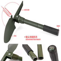 Wholesale Folding Shovel Compass Saw Bottle Opener Survival Outdoor Tool For Travel Camping Garden With Carry Bag Material Escolar