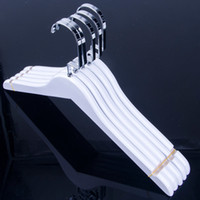 Wholesale White Color Wood Lady Women Cloth Coat Suite Dress Hanger with Notches for Household Store Office Hotel