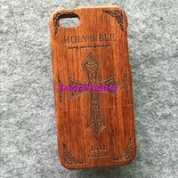 bible covers wholesale - For Wooden Covers iPhone S Natural Eco Friendly Rosewood Cell Phone Cases Back Cover Housing For iPhone S iPhone Covers HOLY BIBLE