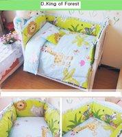 Blue Boy Baby crib ropa de cama conjunto conjunto 100% algodón ropa de cama decoración de la cama incluyen almohadas parachoques colchón 12pcs