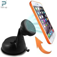 Wholesale Excelvan Degree Rotation Cradle less Magnetic Car Windshield Dashboard Cell Phone Mount Holder For Smartphone GPS Etc