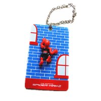 acrylic name card case - 1X Acrylic ID Name Business Credit Bus Card Holder Case Keeper Protector SPIDER MAN Figure