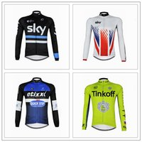 Wholesale 2016 Tour De France Sky Tinkoff And Quick Step Cycling Jerseys Tops Long Sleeve Autumn Winter Fleece None Fleece Bicycle Clothing XS XL