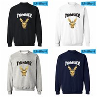 Wholesale Thrasher Hoodie Sweatshirts Pullover Womens and Mens Hoodies High Quality Female Thrasher Sweatshirt Colors Size XXS to XL Available