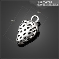 Wholesale Strawberry pendant charm alloy antique silver DIY jewelry accessories SG1960 jewelry Findings Components