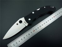 Wholesale Folding knife spyderco S30v blade pocket knife utility camping knife G10 Handle outdoor utility survival knife