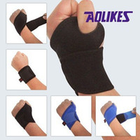 Wholesale New Sports Wristband Wrist Support Straps Wraps for Cycling Running Weight Lifting Fitness Gym Tennis Hand Bands Protector