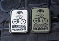 airborne paratrooper - VP inch AIRBORNE Paratrooper Embroidery D Patch Morale Armband Embroidered patch with magic tape armband badge