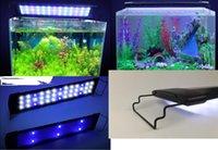 venda por atacado aquarium fish marine-Aquarium Fish Tank SMD LED Lâmpada Luz 9.3W Modo 2 50cm 33 Branco + 6 Blue Eu / Reino Unido / EUA plug Marine Aquarium Led Lighting Aquario