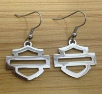 Wholesale Cool biker jewelry hot sellings polishing silver biker earrings dangle chandelier biker events
