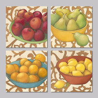apple still life - Still life Food fruit apple pear orange lemon set decoration wall art picture posters Canvas Painting living room unframed