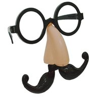 big nose costume - Halloween Cosplay Costumes Funny Clown Fake Big Nose Glasses Mustache Beard Party Ball Prop Glasses Set