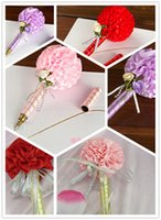 Wholesale Pink Red Purple Kissing Ball Wedding Golden Ink Sign In Pen Wedding Reception Guest Sign In Bridal Shower Pens