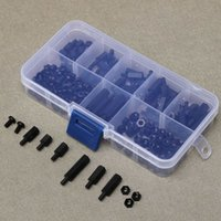 assorted nuts - Cheapest Universal M3 Nylon Black Hex M F Spacers Screws Nuts Assorted Box Kit Standoff Supplies High Quality