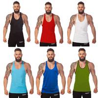 Wholesale 2016 basic movement h vest bodybuilding cotton