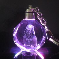 bb limited edition - Limited Edition Star Wars Colorful Crystal Frozener LED Key Chain Darth Vader Stormtrooper BB Droid Robot Keychain Illuminated Keyring