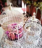 Wholesale Wedding Supplies Wedding decoration Wedd European decorative wrought iron bird cage wedding Birdcage flower ornaments small
