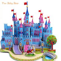 Wholesale Castle Toy For Girls - Brinquedo Educativo Jigsaw Puzzles For Kids Children Toys Developmental 3d Diy Puzzle Lovely Paper Castles Houses