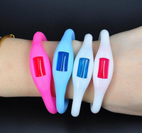 Wholesale sport waterproof silicon Mosquito Repellent Band Bracelets Anti Mosquito Pure Natural Baby Wristband months duration for kids