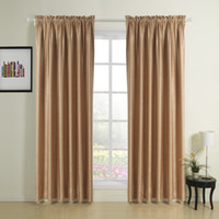 Wholesale Embossed Mist Country Rod Pocket Top Blackout Curtains Drapes With Multi Size Custom