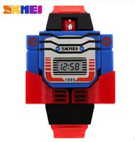 Wholesale Promotion boy creative electronic transformers children fashion personality cartoon wrist watch Digital Girls Kids Sports Gifts
