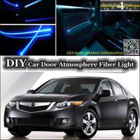 acura tsx lights - DIY interior Ambient Light Tuning Atmosphere Fiber Optic Band Lights Cool EL Light For Acura TSX Door Panel illumination Refit