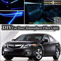 acura tsx lights - DIY Tuning Atmosphere Fiber Optic Band Lights Cool EL Light For Acura TSX Door Panel illumination Refit