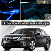 acura tsx lights - For Acura TSX Interior Light Tuning Atmosphere Fiber Optic Band Ambient Light Inside Door Cool Strip Light Refit