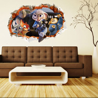 american appliance - 2016 New Zootopia Wall Stickers Near winds Creative Decal Sticker Livingroom Appliances Decals Wallpaper Home Decor Fast shipping
