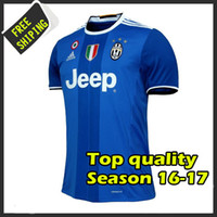 Wholesale New arrived Top Thai Quality juve away blue home black and white Camiseta de futbol soccer shirt