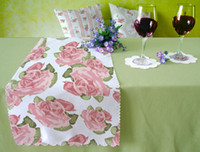 Wholesale Rose Lace table runner mats Coasters Buy this look Pastoral table decoration set more floral patterns click