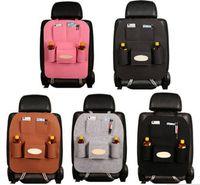 Wholesale NEW cm Bright Plush Senior Style Non woven Large Car Multifunction Hanging Organizer Car Seat Back Capacity Storage