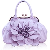 bags rose champagne - rose flower hand bags Fashion Bags portable female Korean leisure fashionista sweet fashion handbag bags