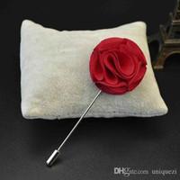 asian tuxedo - 7Colors Hotsale x Fashion Lapel Flower Boutonniere Stick Gauze Brooch Tuxedo Pin Party Wedding Prom for Men