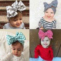 baby dimensions - Pretty bows baby hair band fashion new dimensions length cm wide cm children gingham ribbon in stock HI