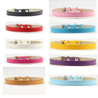 Wholesale Top Sale Leather Pet Dog Collar Small Dog Pet Leash Dog Collar Christmas Colorful Mix Color