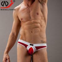 Wholesale Man Ice Silk G String Thongs Men Sexy Transparent Thongs Gay Mens Underwear Sexy Bikinis Jock Straps Male Mini Strings