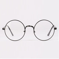 Wholesale Womens Mens Retro Round Metal Frame Clear Lens Glasses Nerd Spectacles Eyeglass