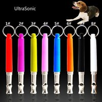 Wholesale Colorful candy color Pet Dog Training Obedience Whistles Whistle UltraSonic Supersonic Sound Pitch Black Quiet Discipline Supplies