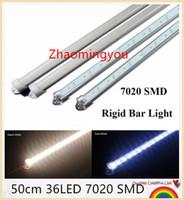 aluminum flashlight profile - HONG New arrival SMD super bright led rigid bar light cm LED Light strip with aluminum profile pc cover lighting tube