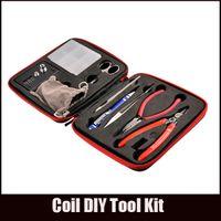 Coil diy kit es El más completo kit diy herramienta bobina bobinadora cerámica pinza conceptos atomizador bobina Para RDA RBA RTA RDTA Atomizador Reconstruir Vape
