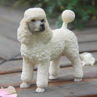art craft model - White Cute Mini craft Arts Factory Outlet Terrier Simulation Model Of British Brand Poodle For Home Decoration