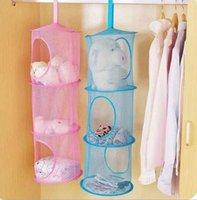Wholesale Shelf Hanging Storage Net Kids Toy Organizer Bag Bedroom Wall Door Closet